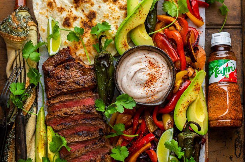 Grilled Tajín-Crusted Steak Fajitas