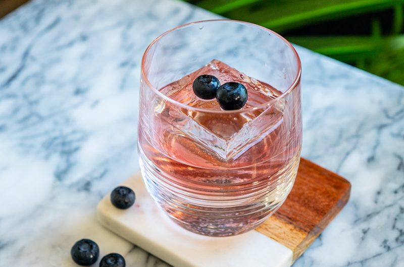 Blueberry Tequila Old Fashioned