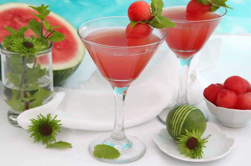Fresh Watermelon-Mint Gimlet