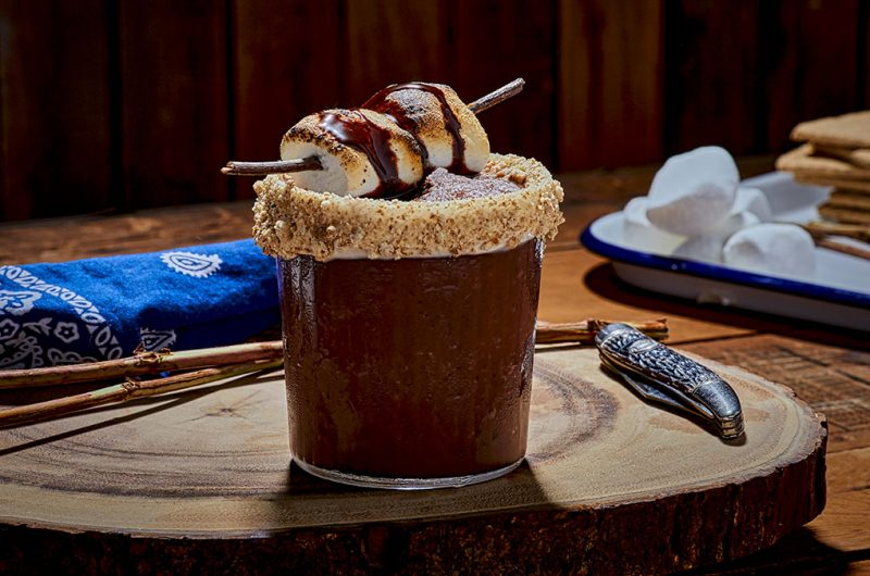 Frozen Bourbon S'Mores Cocktail