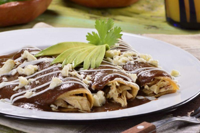 Enfrijoladas with Chicken