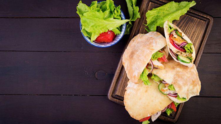 Pita bread Mexican Torta