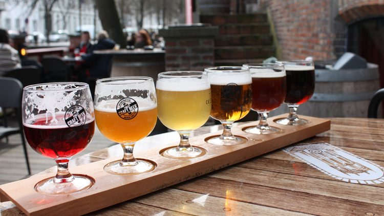 A beer flight