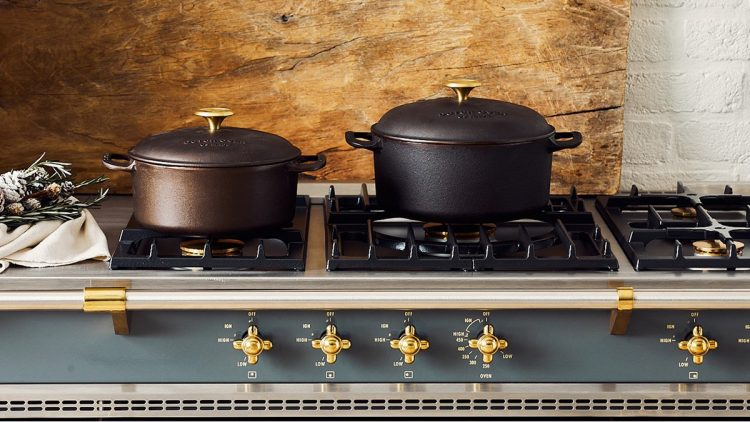Dutch ovens on stove