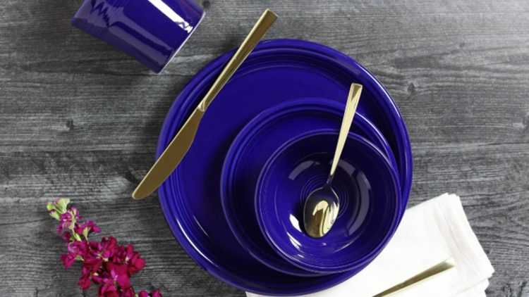 Fiesta Twilight blue plates