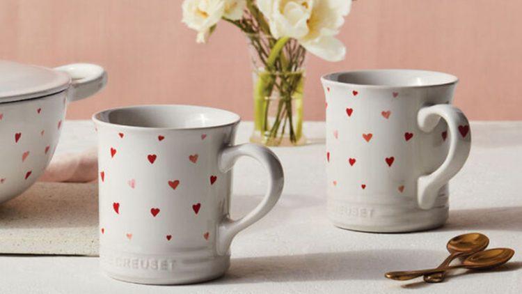 coffee mugs with hearts